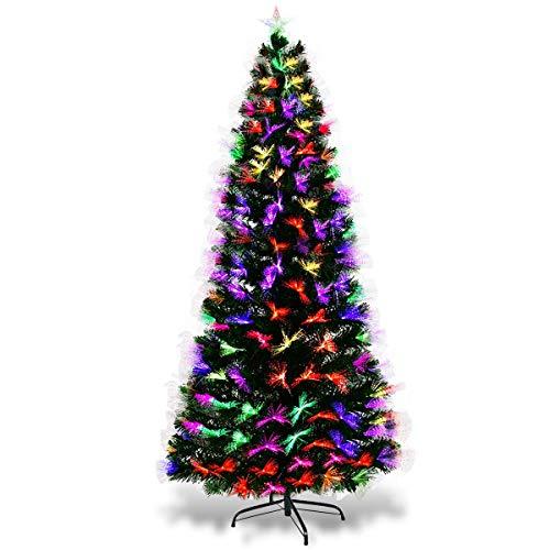 COSTWAY Albero di Natale a LED Albero di Abete Artificiale,...