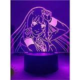 Lampada notturna smart 3D con motivo dell'anime Kakegurui Gambler con Yumeko Jabami, luce notturna per bambini, per camera da letto, ideale come decorazione, regalo di compleanno o di Natale