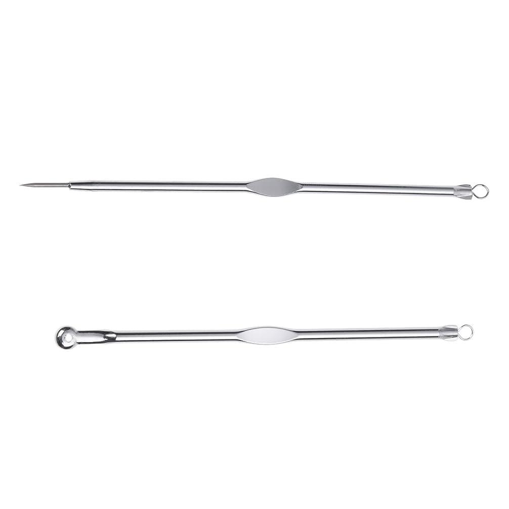 褒賞夢スリーブWOVELOT ステンレススチールブラックヘッド、ミッシュ、にきび抽出リムーバー針+クリップ