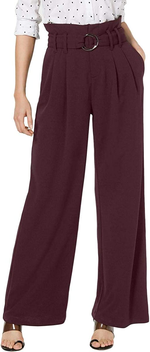 INC Womens Burgundy Wear to Work Pants, Port Size 12
