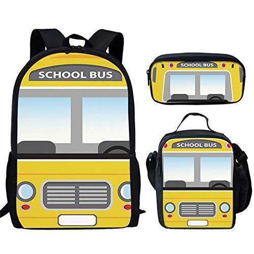 fhdc Mochila Kawaii Creative School Bus Mochilas Escolares Cute Cartoon Kids Schoolbags 3Pcs Niños Campus MochilasHmb416Cgk
