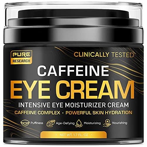 Caffeine Eye Cream For Anti Aging, Dark Circles, Bags, Puffiness. Great Under Eye Skin + Face Tightening, Eye Lift…