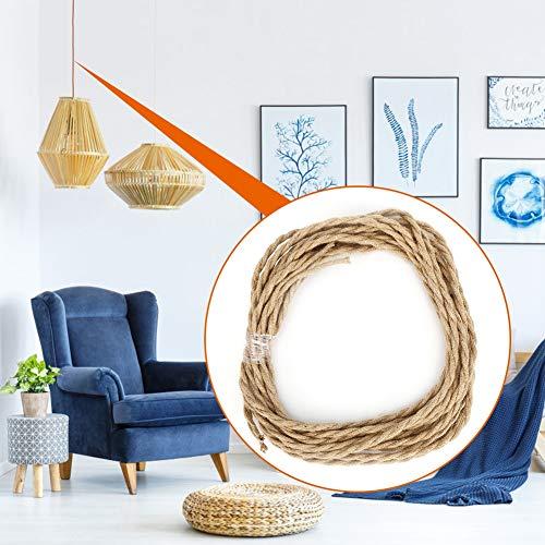 Pbzydu 【 】 Cable eléctrico de Cuerda de cáñamo Vintage de par...