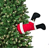 "Mr. Christmas 16"" Long Battery Operated Motion Activated Animated Santa Kicking Legs for Indoor USE ONLY"