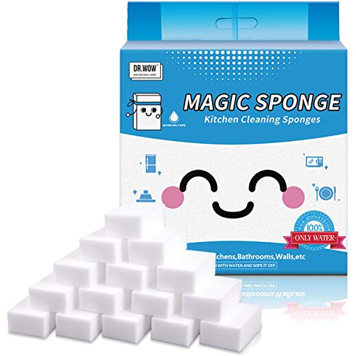 Dr.WOW 21 Pcs/Lot Magic Sponge ,Great Price Melamine Sponge - 2X Thicken 2X Long Lasting Cleaning,Eraser Sponge In Kitchen Air Fryers, Bathroom, Office Work Well