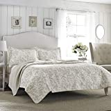 Laura Ashley Home Amberley Collection Quilt Set 100%...