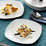 MALACASA, Serie Elisa, 12 TLG. Set 7,5″ Porzellan Dessertteller Kuchenteller Teller Set 19x19x2cm für 12 Personen - 8