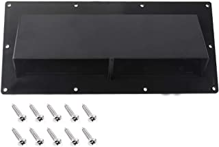 Gekufa RV Range Hood Vent Cover Black with 10 Pcs Screws, RV Stove Vent Cover/RV Exhaust Vent Cover