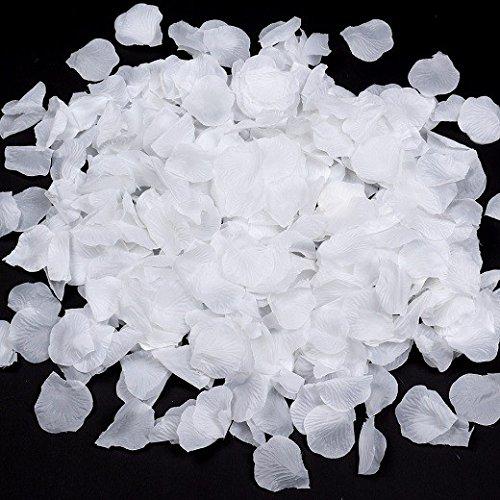 Schramm® 500 stuks rozenblaadjes witte rozenblaadjes bladeren kunstbloemen zijde bloemen wit