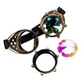 Steampunk Victorian Goggles Kaleidoscope Welding Glasses Punk Rustic Cosplay Costume Accessories Sunglasses