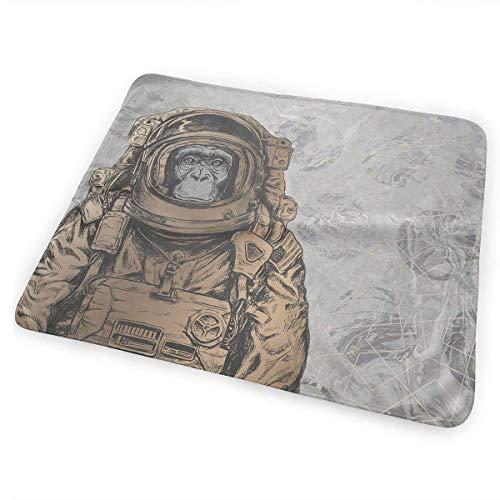 Voxpkrs Weiche Windelkissen Saugfähige waschbare Matratze Astronaut Monkey Cool Graphic(65x80cm)