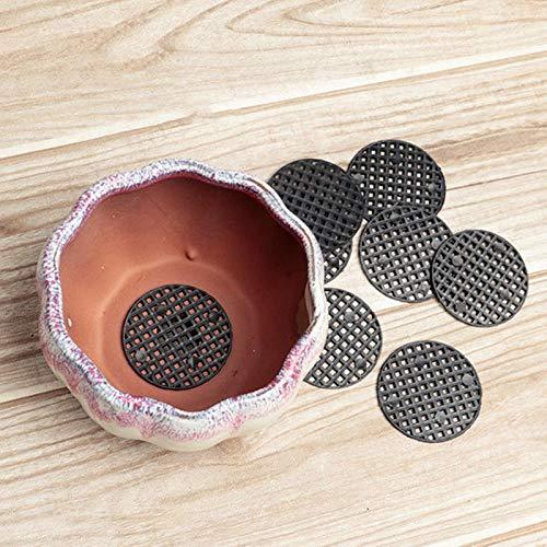 Raguso 10 Uds Almohadilla para Maceta Bonsai Rejilla Inferior a Prueba de Fugas Negro para macetas de Plantas de Interior Herramientas de jardinería(4.5cm in Diameter)