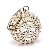 Mujer Bolsos Legierung Bolso de Noche Perlas Cristales Estampado Floral Bolsos de Boda Fiesta Evento/Fiesta Diario Dorado Plata