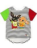 Bing Bunny Camiseta Sula Striped Black White Niños Niñas y Niños Top Raglán