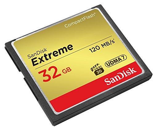 SanDisk SDCFXSB-032G-FFP Extreme CompactFlash Scheda di Memoria 32GB UDMA-7 120MB/S [Imballaggio Apertura Facile di Amazon]
