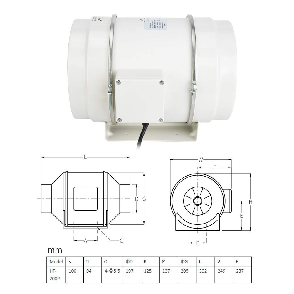 Duct Fan HF-200P Memphis NEW before selling ☆ Mall Ventilation Fans for Cinema Study Ente Office