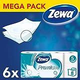Zewa Premium Toilettenpapier 5-lagig Riesenpackung 6 Packungen
