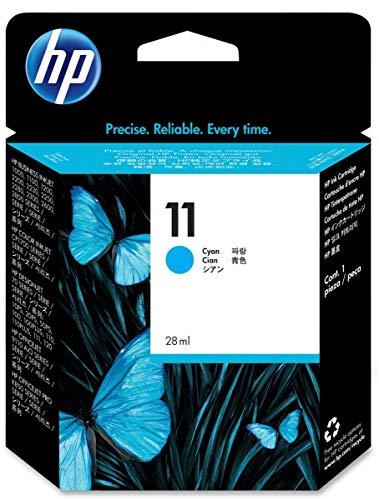 HP 11 C4836A, Cian, Cartucho de Tinta Original, de 2.550 páginas, para impresoras HP Business InkJet serie 1100, 1200, 2200, 2300 y OfficeJet serie 9100