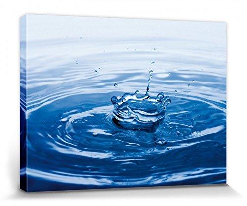1art1 Agua - Splash! Gotas De Agua Cuadro, Lienzo Montado sobre Bastidor (40 x 30cm)