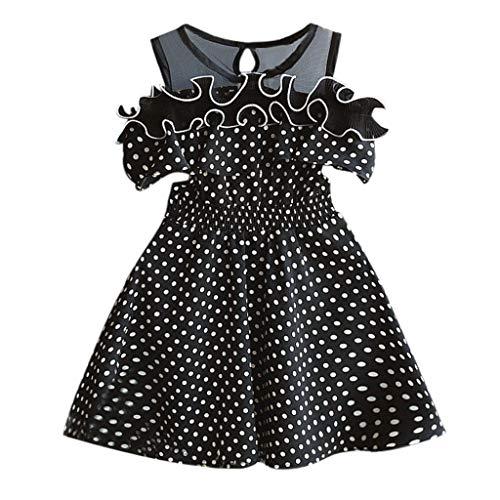 Kleinkind Baby Mädchen Kleider Dot Printing Party Pageant Prinzessin Kleid Kinder Sommerkleid Kleidung Strandkleider Größe 2-7 Jahre