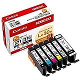Canon 純正 インクカートリッジ BCI-371XL(BK/C/M/Y/GY)+370XL 6色マルチパック 大容量タイプ 【L判写真用紙30枚付】BCI-371XL+370XL/6MPV