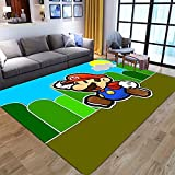 WallDiy Super Mary Dibujos Animados Mario sótano Alfombra Piso Dormitorio Felpudo Alfombra Antideslizante Sala de Estar Buen Aspecto práctico Barato
