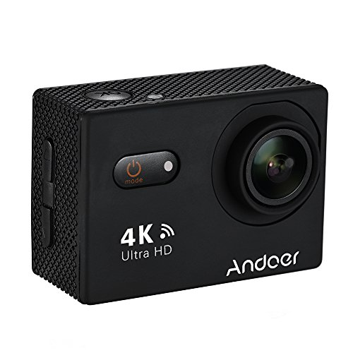 Andoer AN9000 WiFi Action Sports Camera 4K 16MP with 2 inch Touchscreen,170° Wide Angle Lens and Waterproof Case