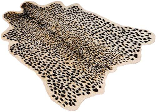 Centeraly Estampado Leopardo Alfombra, Artificial Piel Simulación Estampado Animal Alfombra Hogar Antideslizante Alfombra Artificial Alfombra para Hogar Oficina, Comedor, Dormitorio