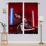 Cortinas de oscurecimiento de Star Wars, con aislamiento térmico, con ojales en la parte superior de eficiencia energética para dormitorio de 196 x 1177 cm