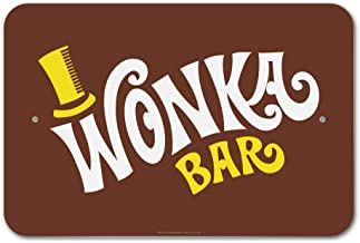GRAPHICS & MORE Willy Wonka and The Chocolate Factory Wonka Bar Logo Home Business Office Sign - Plastic - 18