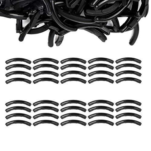 40 Pieces Curler Refills Eyelash Curler Refills Pads Silicone Rubber Refills Curler Replacement Pads for Universal Eyelash Curler (Black)