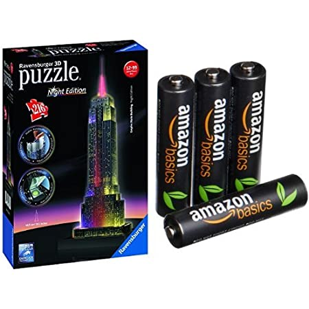 Pack Puzzle 3D - Empire State Building + 4 Piles Amazon Basics AAA Rechargeables