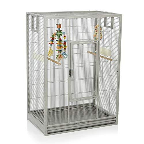 Montana Cages ® | Vogelkäfig Melbourne 80 - Platinum erweiterbarer Käfig Voliere für Sittiche, Kanarienvögel & Finken