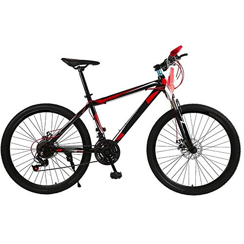 ZLDAN MTB Double disc Bicycle Shift Female Students (Color : Red)