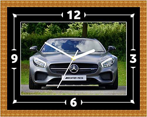 AMG GT-R voorste Mercedes wandklok Euro V8 V10 cadeau cadeau Kerstmis verjaardag (Can worden gepersonaliseerd)