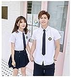 Suyazhi 日本と韓国の高校制服2018年夏期中学校授業サービスJK制服セーラー服卒業クラスサービスのカスタマイズ (M, 女性モデル)
