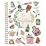 """What You Get - 8.5"""" x 11"""" Recipe notebook includes 120 pages (60 sheets), 1 sheet of tabs and 2 sheet of stickers. 12 Tabs to help with organization, 2 sheets of vegetables and fruit stickers. Make Cooking Fun - Create a cooking list and get a sense ..."""