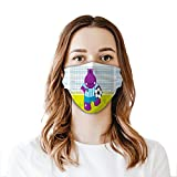 Fashion Cute Hippopotamus Soccer Goal Keeper Football Cartoon Print Face Mask Reusable Washable Masks Cloth for Men and Women