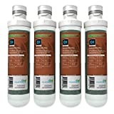 AQUATICLIFE Twist-in Mixed-Bed Color Changing Deionization Resin Filter Cartridge for Reverse Osmosis Deionization System RO/RODI Units, 4-Pack