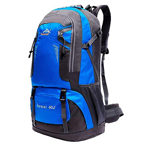 OcioDual Mochila de 60 litros para Senderismo Marcha de Montaña Trekking Camping Deporte al Aire Libre ergonómica Azul