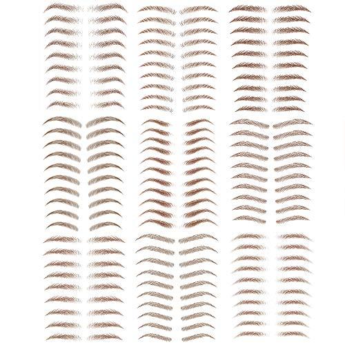 Yesallwas Eyebrow tattoos brown Realistic Fake Eyebrows ,Water Transfer Sticker for Eyebrows Makeup Tools,Waterproof Long Lasting Realistic Eyebrow Tattoos