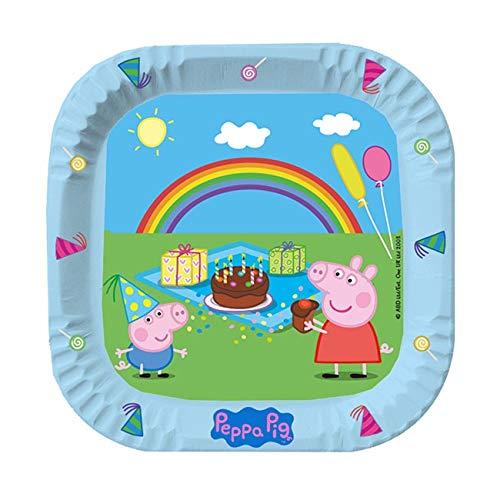 Happy People Peppa Pig - Platos de papel (23 cm de diámetro, 6 unidades)