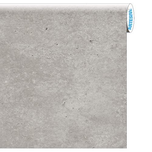 Artesive ST-012 Cemento larg. 60 cm AL METRO LINEARE - Pellicola Adesiva effetto Pietra per interni, rinnovare mobili, porte e oggetti di casa, rinnovare mobili, porte e oggetti di casa
