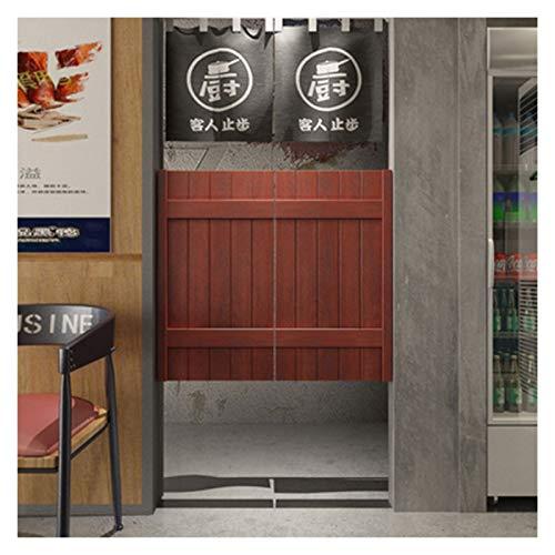 NL Swinging Doors Swing Doors Cafe Doors Sliding Door, Solid Wood Handmade to Veranda, Entrance, Living Room, Customizable Size Fencing Gates (Size : 8090cm)