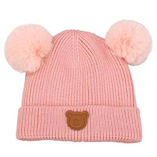 Gogokids Bebé Niños Niñas Sombreros Invierno Gorras de Pompón Crochet Punto