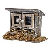 Zerodis 1/12 Garten Miniatur Hühnerstall für Puppenhaus Zubehör Puppen Spielset Holzfiguren Set...
