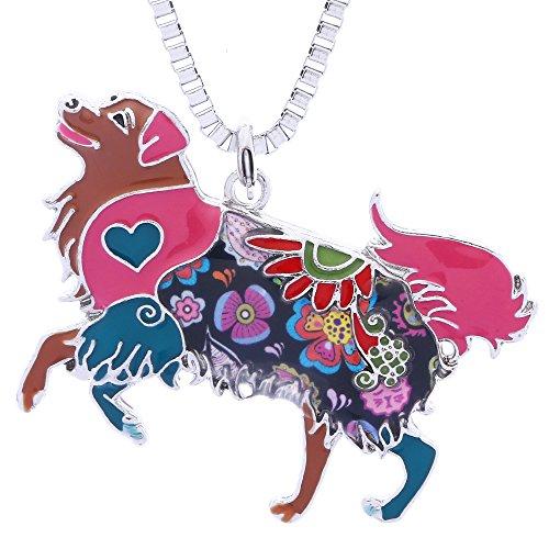 Luckeyui Golden Retriever regali ciondolo collana per donna Friend novità animale fascino gioielli e Metallo di base placcato al rodio , colore: Multicolore, cod. LUCKY009-Multicolor