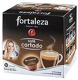 Café FORTALEZA - Cápsulas de Café Cortado Compatibles con Dolce Gusto