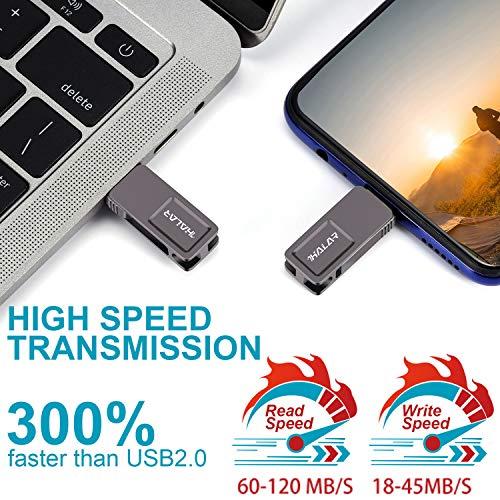 THKAILAR 64GB USB C Stick, 2-in-1Typ C USB 3.0 OTG Speicherstick wasserdichte Dual Memory Stick für Musik/TV/Video/Externe Datenspeicherung Speicherstick mit für Smartphone/PC/Galaxy/MacBook Pro