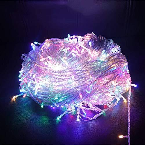 SACYSAC 100M LED sprookjesband met stekker, buitenverlichting, voor de kersttuin, 8 verlichtingsniveaus
